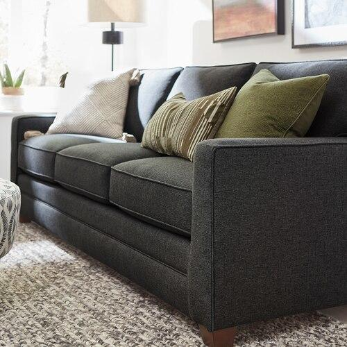 Straw Alexander Track Arm Sofa