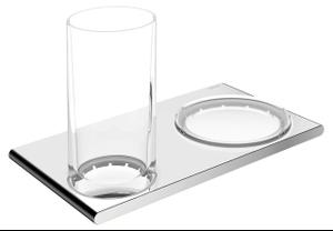 11556 Double holder glass/soap Product Image