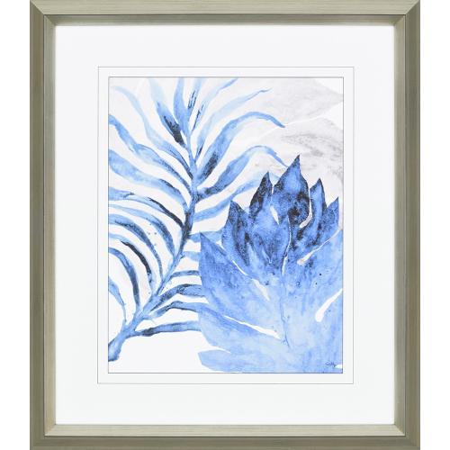 Blue Fern and Leaf I