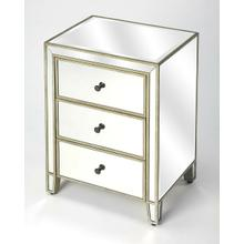 See Details - The glamorous beauty of the mirror style brings reflected light into every space. The transitional design with the details that offer a spark of fresh Glam style, bring elegance and function into your every day life. The equisite bevel mirror finish is enhanced by the not so subtle beauty of the Antiqued Gold Finish details. The spacious interior drawers offer you both function and beauty as the finish is continued throughout the style. Handcrafted from select Birch woods with an Antique Gold finish: offer to bring a bit of elegance to every room.