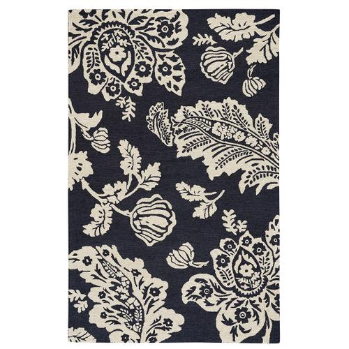 Everard Damask Noir Hand Tufted Rugs