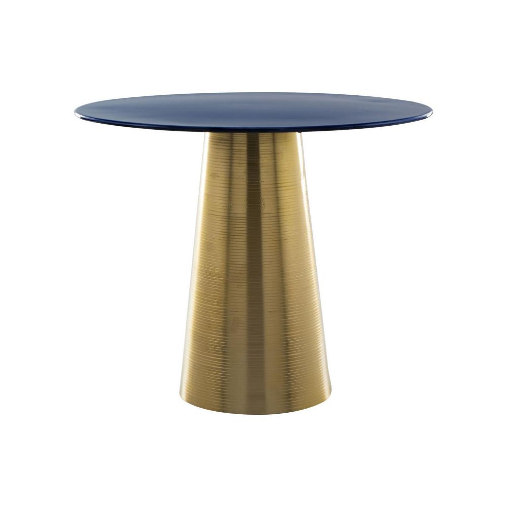 Reo Side Table Blue & Gold