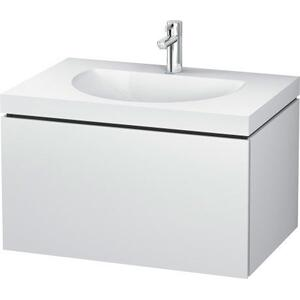 Furniture Washbasin C-bonded With Vanity Wall-mounted, White Matte