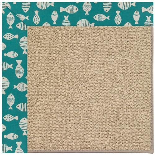 "Creative Concepts-Cane Wicker Go Fish Turquoise - Rectangle - 24"" x 36"""