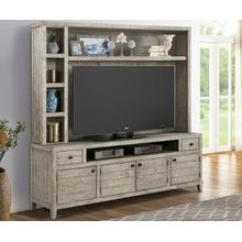 TEMPE - DESERT SAND 84 in. TV Console with Hutch and Back Panel