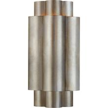 View Product - AERIN Arabelle 2 Light 6 inch Burnished Silver Leaf Sconce Wall Light, Small