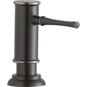 "Elkay 2-1/8"" x 5-1/16"" x 3-1/2"" Soap / Lotion Dispenser, Antique Steel (AS)"