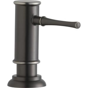 """Elkay 2-1/8"""" x 5-1/16"""" x 3-1/2"""" Soap / Lotion Dispenser, Antique Steel (AS) Product Image"""