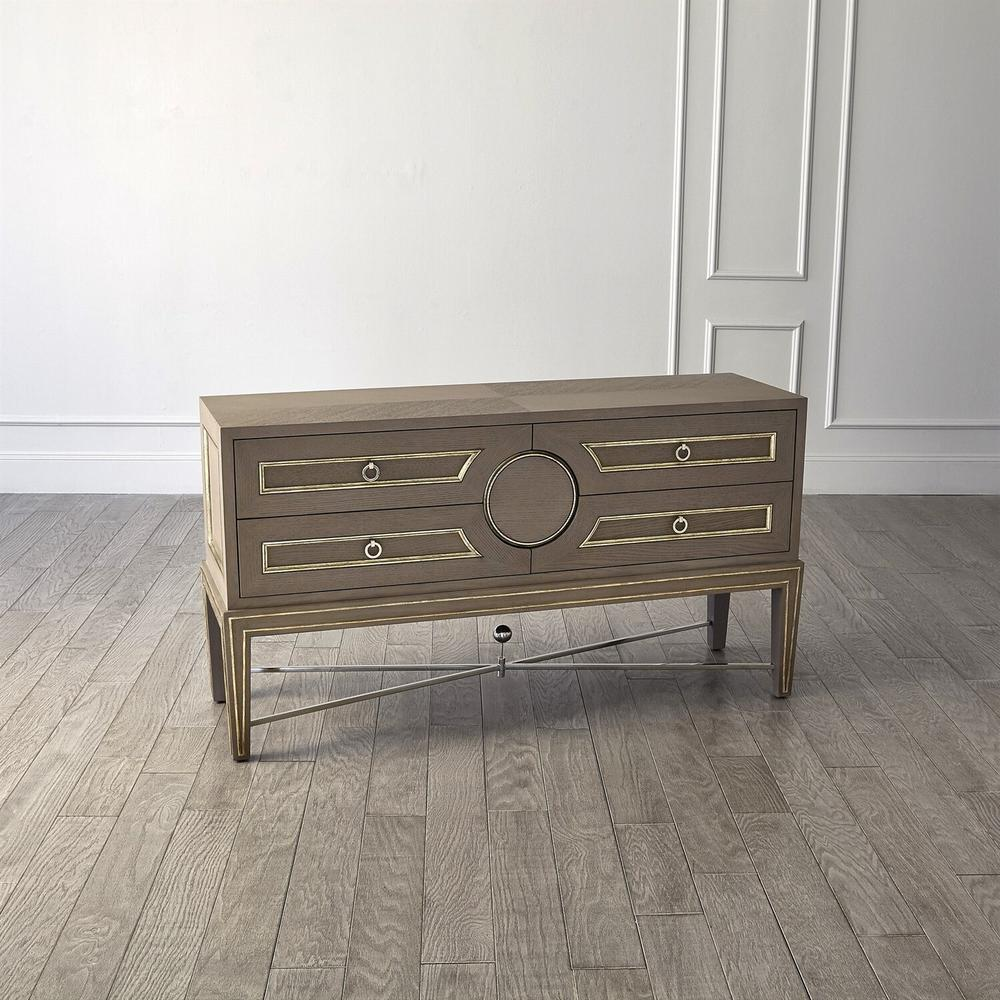 See Details - Collectors Cabinet Console-Grey
