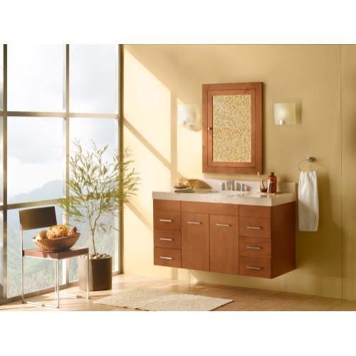 "Ronbow - Bella 23"" Wall Mount Bathroom Vanity Base Cabinet in Cinnamon"