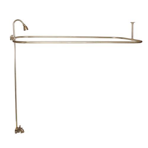 "Rectangular Shower Unit - Polished Brass / 48"" x 24"""
