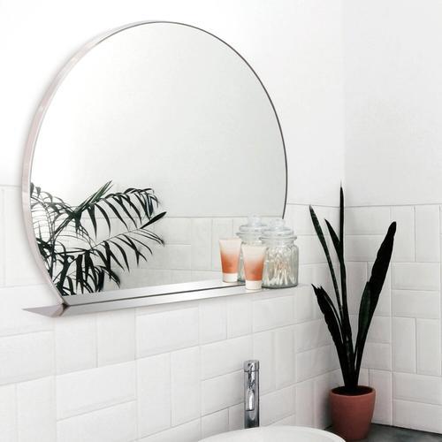 Howard Elliott - Marion Round Mirror with Shelf