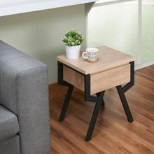 ACME Kalina End Table - 80587 - Rustic Natural & Black