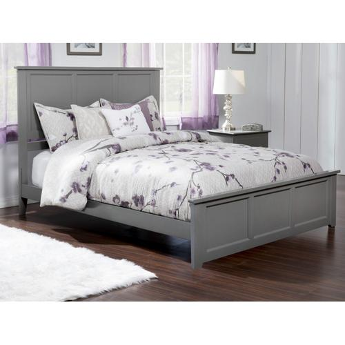 Atlantic Furniture - Madison Queen Bed with Matching Foot Board in Atlantic Grey