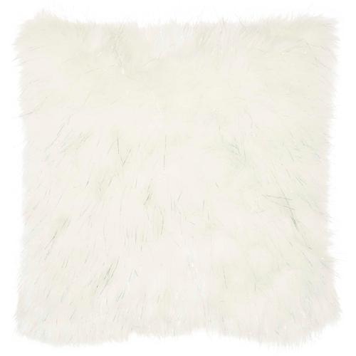 """Fur Vv059 White 20"""" X 20"""" Throw Pillow"""