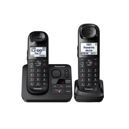 Gallery - Expandable Cordless Phone with Comfort Shoulder Grip and Answering Machine- 2 Handsets - KX-TGL432B