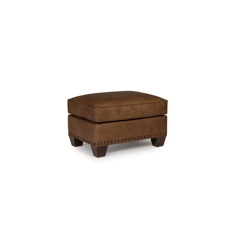 See Details - Leather Ottoman