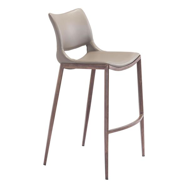 See Details - Ace Bar Chair Gray & Walnut
