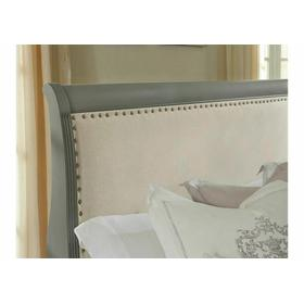 Upholstered Bed with Footboard Storage