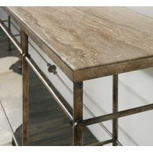 See Details - La Grange St James Metal and Stone Console