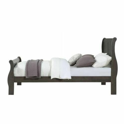 ACME Louis Philippe Queen Bed - 26790Q - Dark Gray