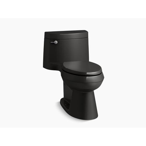 Kohler - Black Black One-piece Elongated 1.28 Gpf Chair Height Toilet With Quiet-close(tm) Seat