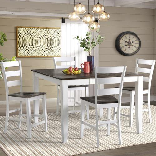 Intercon Furniture - Kona Ladder Stool  Gray and White