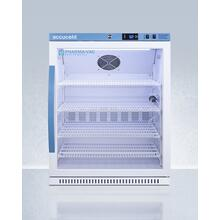 Performance Series Pharma-vac 6 CU.FT. ADA Height Glass Door Commercial All-refrigerator for the Display and Refrigeration of Vaccines; Designed for Recessed or Freestanding Installation