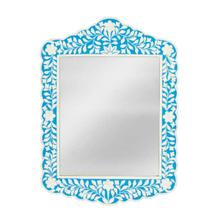 See Details - This magnificent Wall Mirror features sophisticated artistry and consummate craftsmanship. The botanic patterns covering the piece are created from white bone inlays cut and individually applied in a sea of blue by the hands of a skillful artisan. No two mirrors are ever exactly alike, ensuring this piece will hang as a bonafide original.