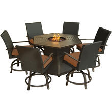 Aspen Creek 7-Piece Fire Pit Dining Set