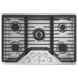 """GE Profile™ 30"""" Built-In Tri-Ring Gas Cooktop with 5 Burners and Optional Extra-Large Integrated Griddle"""