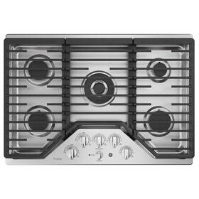 "GE Profile™ 30"" Built-In Tri-Ring Gas Cooktop with 5 Burners and Optional Extra-Large Integrated Griddle"