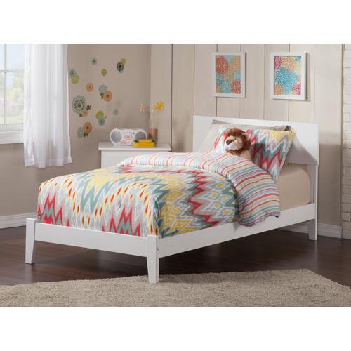 Atlantic Furniture - Orlando Twin XL Bed in White