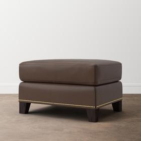 Pierce Leather Ottoman