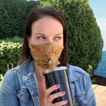 See Details - Happy Hour Reusable Face Mask in Linden Autumn