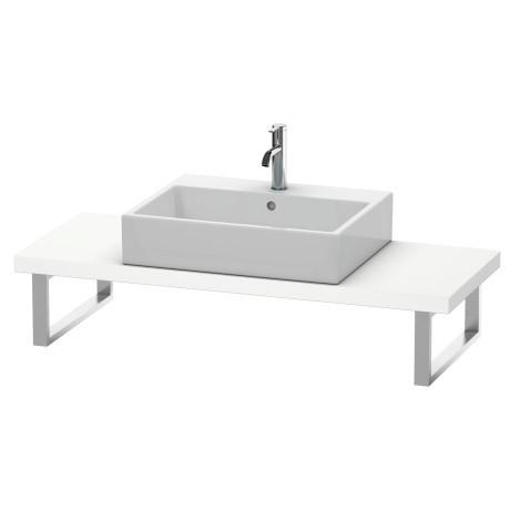 Console For Above-counter Basin And Vanity Basin Compact, White Matte