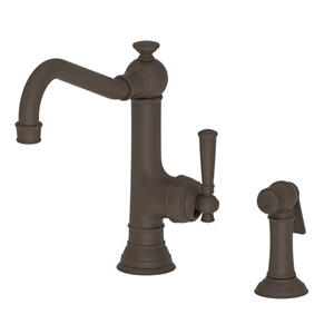 Oil Rubbed Bronze Single Handle Kitchen Faucet with Side Spray
