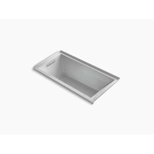 "Ice Grey 60"" X 30"" Alcove Vibracoustic Bath With Bask Heated Surface, Integral Flange, and Left-hand Drain"
