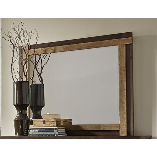 Mirror - Distressed Dark Pine Finish
