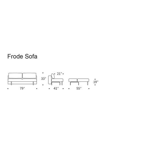 """FRODE SOFA, DARK WOOD, 55""""X79"""""""