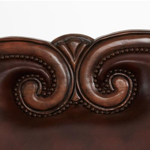Leather/fabric Loveseat