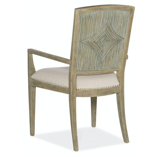 Dining Room Surfrider Carved Back Arm Chair-2 per ctn/price ea