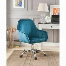 ACME Eimer Office Chair - 92505 - Teal Velvet & Chrome