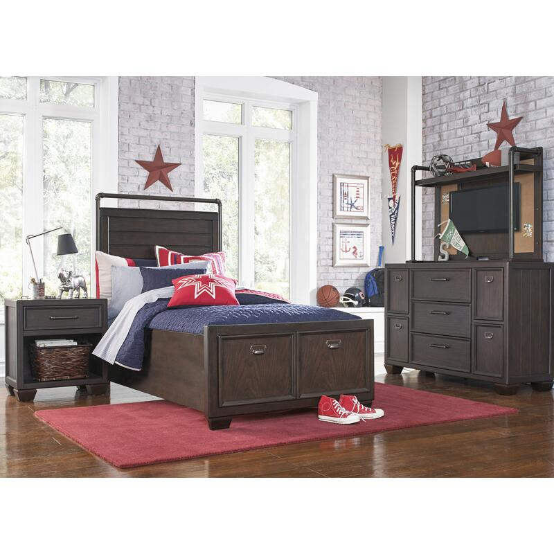 Clubhouse Storage Footboard Twin