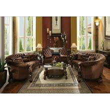 ACME Versailles Sofa w/5 Pillows - 52080 - Brown Velvet & Cherry Oak