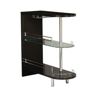 Product Image - Contemporary Glossy Black Bar Table