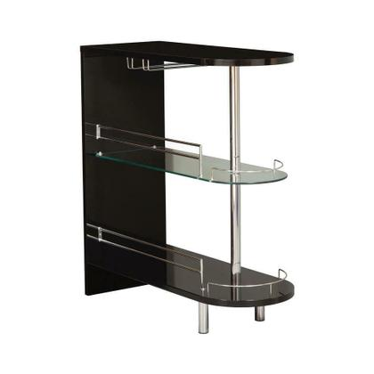 See Details - Contemporary Glossy Black Bar Table