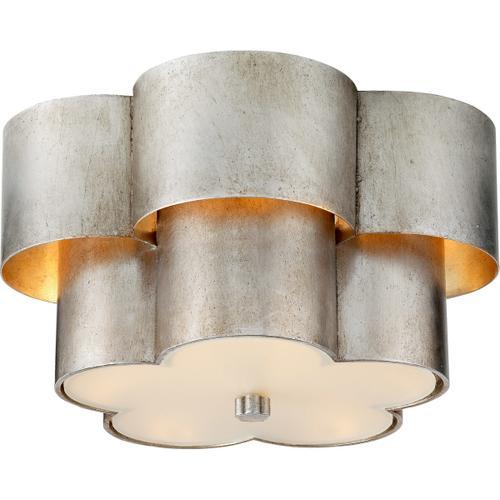 AERIN Arabelle 3 Light 14 inch Burnished Silver Leaf Flush Mount Ceiling Light