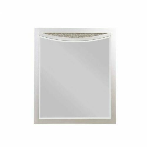 ACME Maverick Mirror - 31810 - Glam - Mirror, Wood (Poplar), MDF - Platinum
