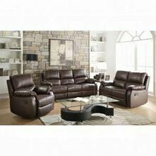 ACME Enoch Sofa (Motion) - 52450 - Dark Brown Top Grain Leather Match